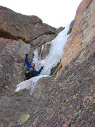 Rock Climbing Photo: Chris Sheridan coming to grips with the idea of ba...