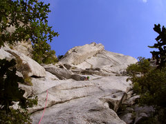 Rock Climbing Photo: Sam cruising up the first pitch of Zigzag, trying ...