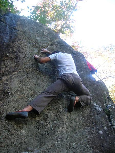 Rock Climbing Photo: Tyler on the FA