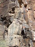 Rock Climbing Photo: Tony Doyle cleans up the Van Allen Belt.