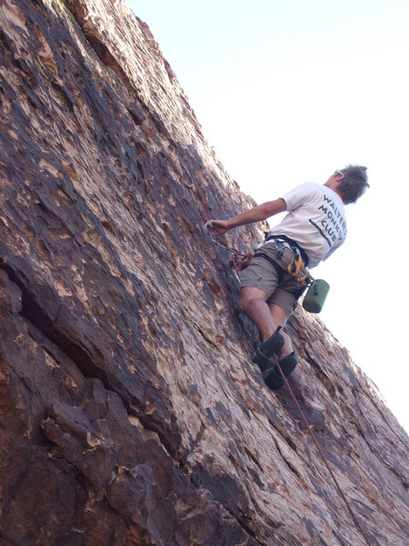 Andrei staying mellow well past the crux.