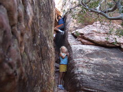 Rock Climbing Photo: This is a great crag and hangout spot with the kid...