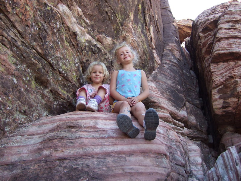 The kids chillin' at Cannibal Crag west.