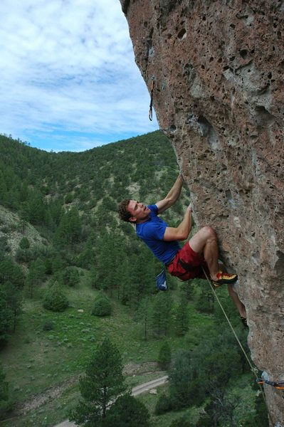 Rock Climbing Photo: MatthewNM on the lower portion of Goliath