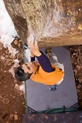 Rock Climbing Photo: Charlie S. on starting up the arete