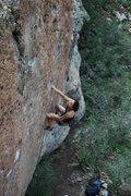 Rock Climbing Photo: Linda W. nearing the top