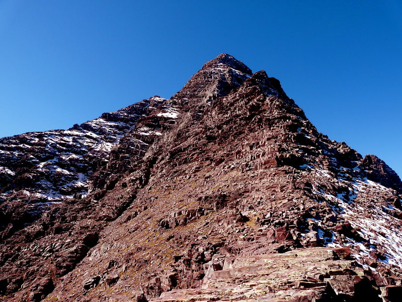 Pyramid northeast ridge route