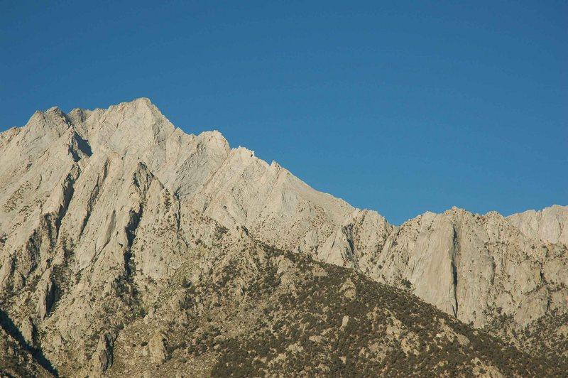 Rock Climbing Photo: The North Ridge follows the obvious right skyline ...