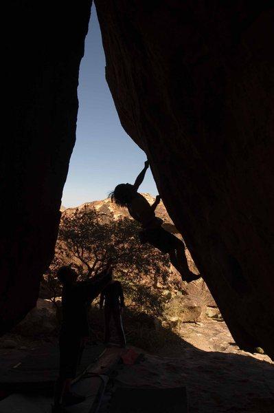 Rock Climbing Photo: Tony Yao working his way up See Sport Run.