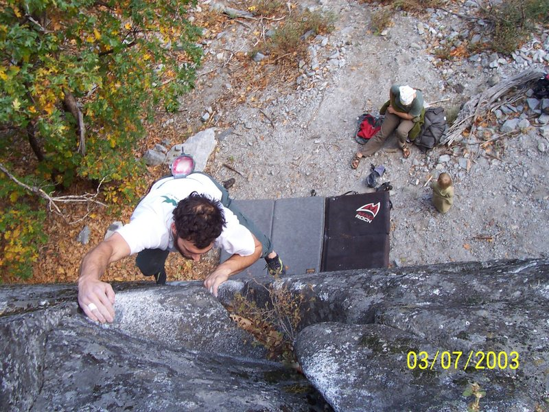 Rock Climbing Photo: Greg on Circuit Breaker