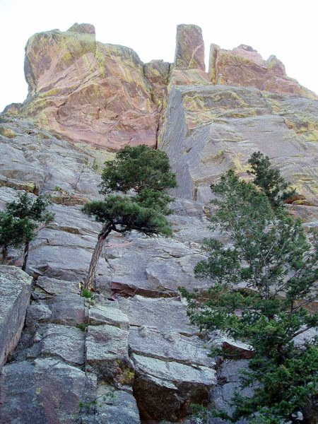 Rock Climbing Photo: Eagle's Bier from below. A mediocre photo, but it ...