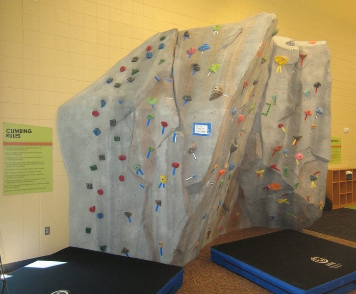 Bouldering wall at the Erie Community Center.