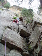 Rock Climbing Photo: The slightly blurry start. Photo by Luke Clarke.