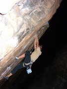 Rock Climbing Photo: Chelsea dialing in the start on armed robbery