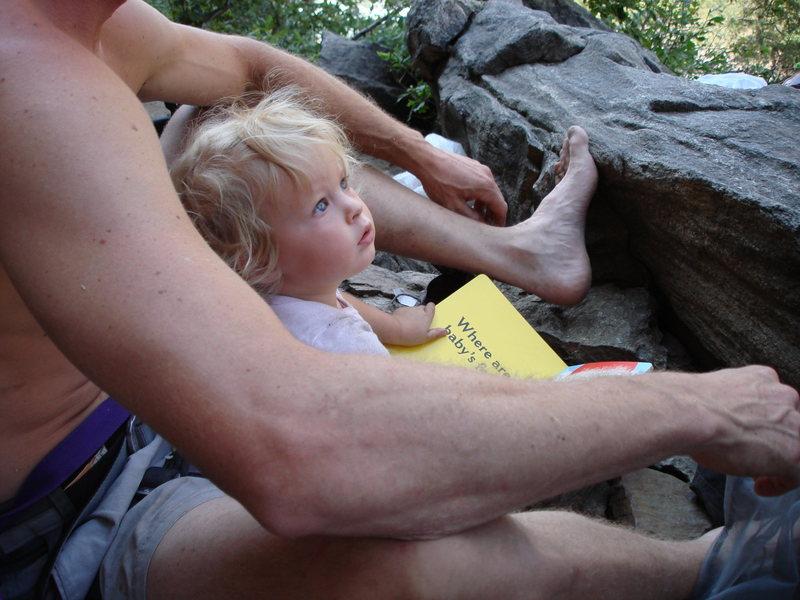 Norah reading me a book