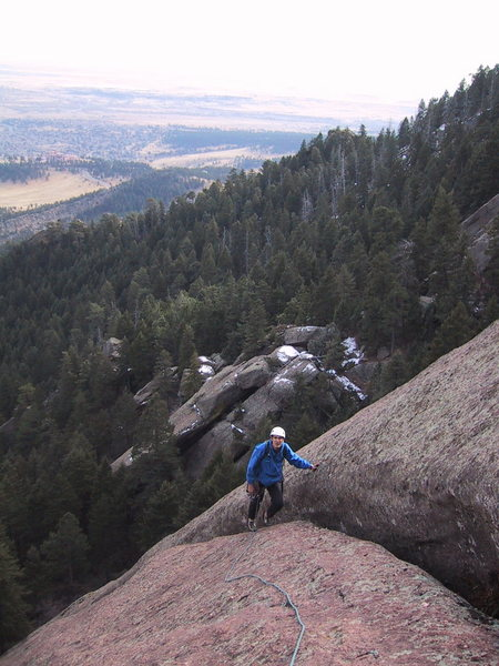 Rock Climbing Photo: The top of the first pitch.