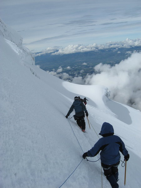 Heading down from Cotopaxi's summit.