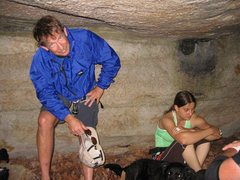 Rock Climbing Photo: Waiting out the rain under the Calisthenic opening...
