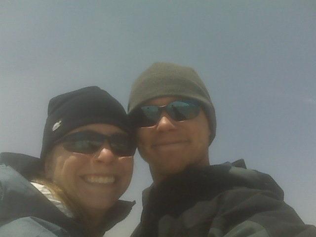 Rock Climbing Photo: Staci and I on Elbert.