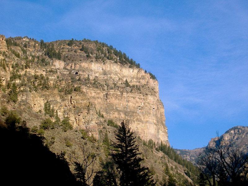 The Grizzly Creek Wall (aka Mudwall).