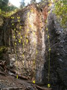 Rock Climbing Photo: Division Wall North 1. Liquid Oxygen 5.12a 2. The ...