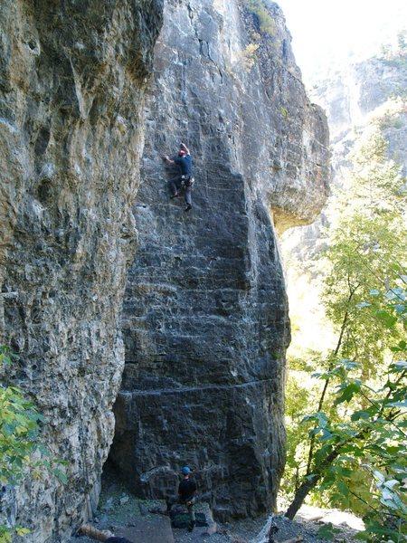Perin climbing [[105741698]] 5.10a.