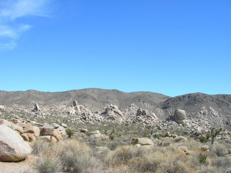 East Virgin Islands from the north.  Hone Dome is on the right, then Virgin Pile, Pinon Point.