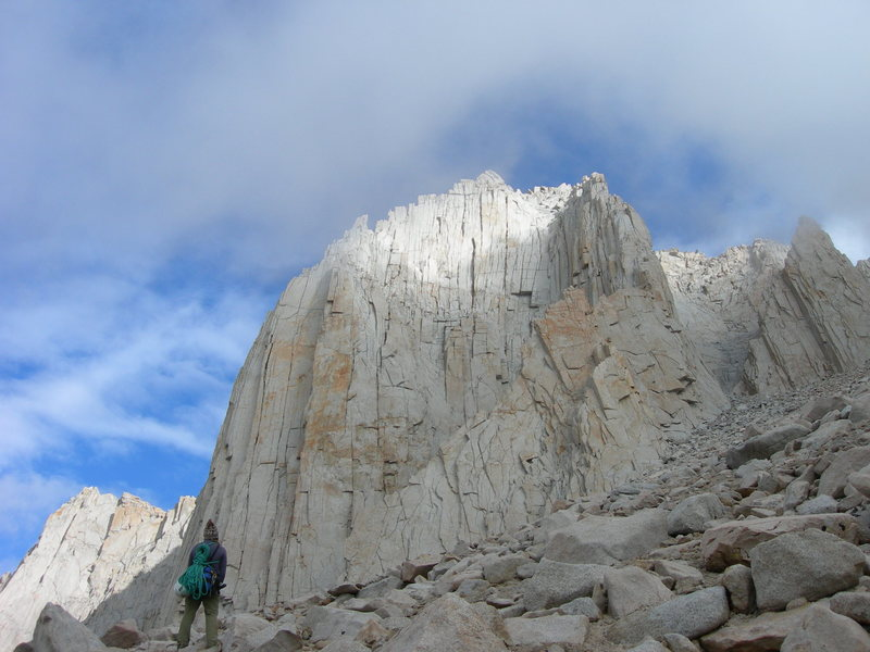 Rock Climbing Photo: Diana at the west side of the south face, Mithral ...