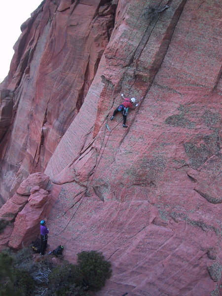 Rock Climbing Photo: The first pitch.