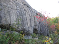 Rock Climbing Photo: Lower section of the Post Pardum Wall.
