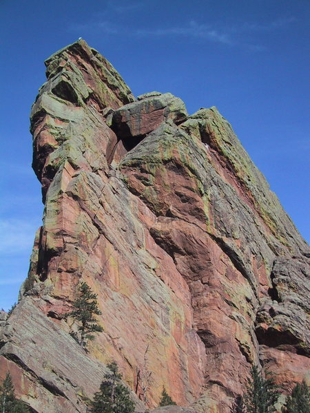 Rock Climbing Photo: Pentaprance is the left-facing dihedral in the cen...