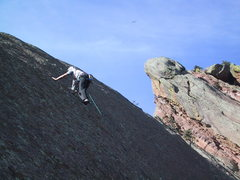 Rock Climbing Photo: The crux pitch.