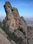 Rock Climbing Photo: The backside of the 3rd, showing all of Friday's F...