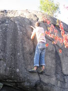 "Rock Climbing Photo: Getting towards the top of ""Get the Epidural...."