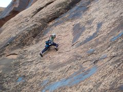Rock Climbing Photo: Approaching the crux section...