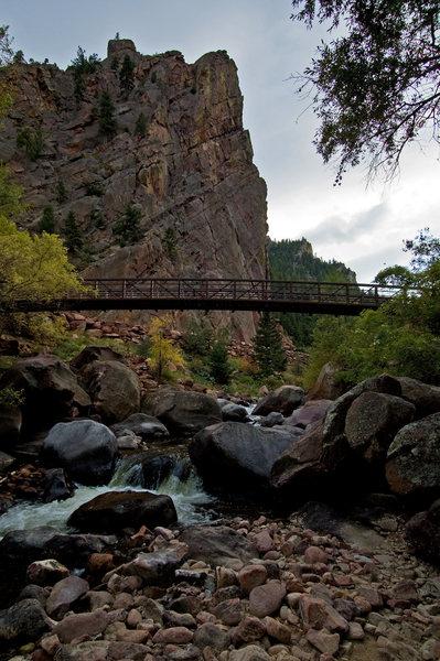 The Bastille from South Boulder Creek.  Photo: James Beissel, October 2008.