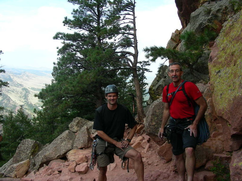 Dave Weaver and me after we rapped off the First Flatiron.
