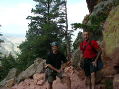Rock Climbing Photo: Dave Weaver and me after we rapped off the First F...