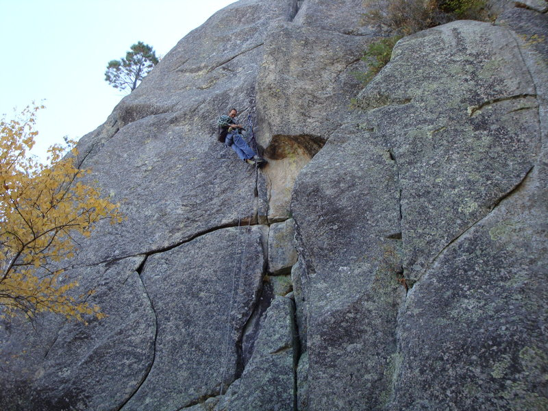 Andrew Burr preparing to shoot his next meal (location photo of the route).