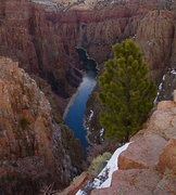Rock Climbing Photo: down river