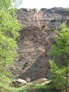 Rock Climbing Photo: Bow street HVS 4c, Millstone ,Peak District (UK)