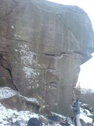 Rock Climbing Photo: *Strapiombante E1 5b, Froggatt, Peak District (UK)...