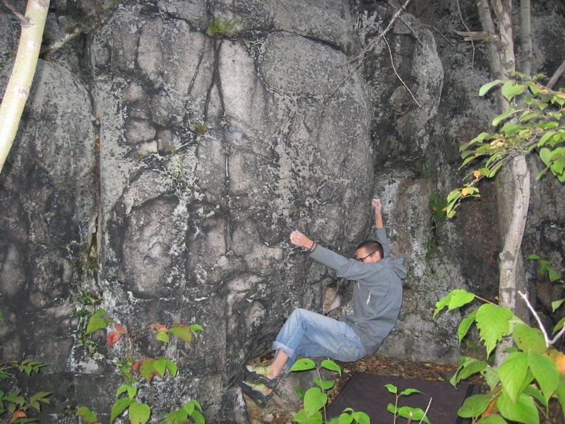 Chris Deulen working Rock Biter.