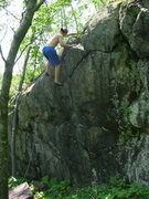 Rock Climbing Photo: Topping out XMen.