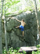 Rock Climbing Photo: Chris trying out Top Out Problem after a good clea...
