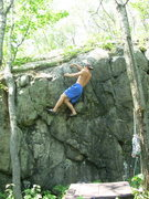 Rock Climbing Photo: Hark trying to top it out.