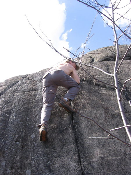 Rock Climbing Photo: Crack so painful you need the drugs.