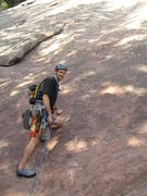 Rock Climbing Photo: Ready to start the 5.6R P1 on the First Flatiron. ...