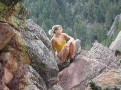 Rock Climbing Photo: Scenic views above Boulder.