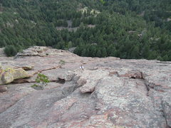 Rock Climbing Photo: Looking down the east face of the First Flatiron. ...